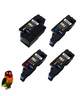 DELL C1660 / C1660W PACK 4 TONERS COMPATIBLES