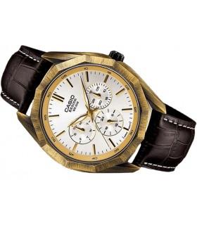 reloj hombre Casio Beside BEM-310AL-7A correa cuero marrón