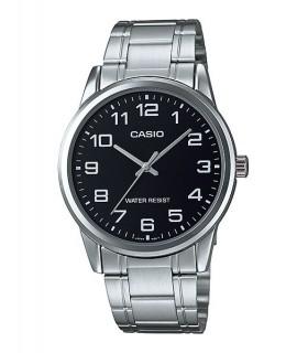 reloj hombre Casio MTP-V001D-1B esfera negra - plateado