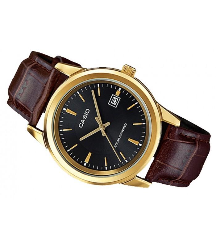 25d05f8d259f reloj hombre Casio Solar MTP-VS01GL-1A correa cuero