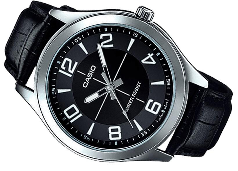 b01268937889 Reloj hombre Casio mtp-vx01l-1b correa piel negra esfera negra caja grande