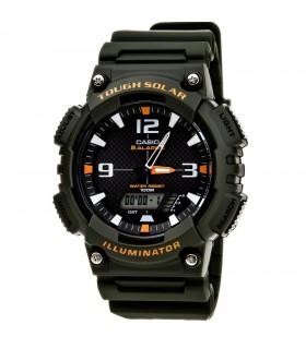 reloj hombre Solar Casio Tough Solar AQ-S810W-3A verde militar - resina deportivo