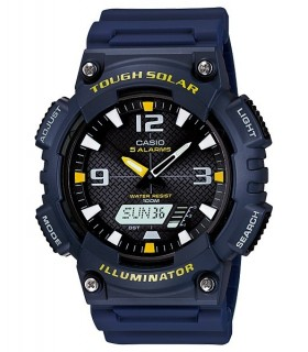 reloj hombre CASIO TOUGH SOLAR  AQ-S810W-2A deportivo azul - resina