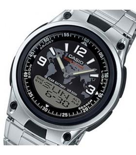 reloj hombre CASIO aw-80d-1a2 Hora Mundial - 30 telememo - 10 años batería