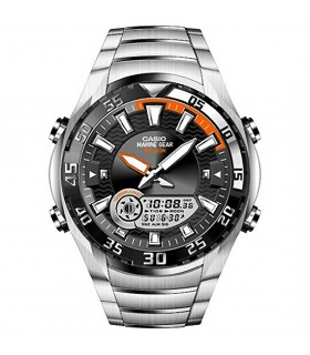 reloj hombre Casio Marine Gear  AMW-710D-1A Mareas acero inoxidable