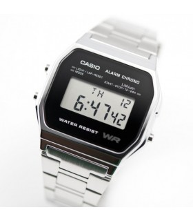 Reloj casio collection digital clásico retro A158WEA-1EF  multifuncional - acero inoxidable - wr