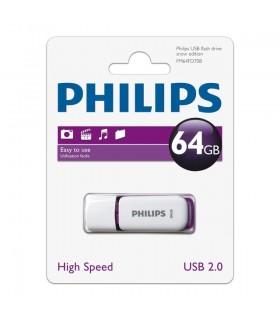 PENDRIVE PHILIPS 64GB SNOW PURPLE 2.0