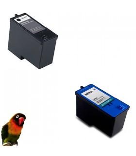 Tintas negra+color x DELL A926 / 926 / V305 / V305W DELL MK990/MK992/MK991/MK993