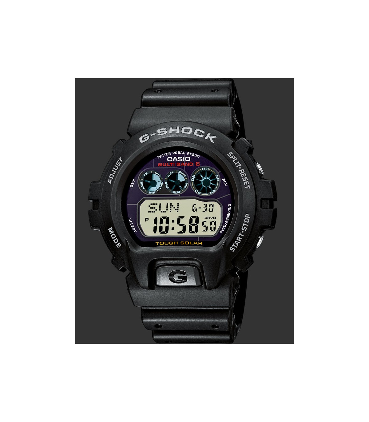 Reloj Hombre 1 Casio Radiocontrol Atomic World Shock G Gw Time 6900 w0On8kP