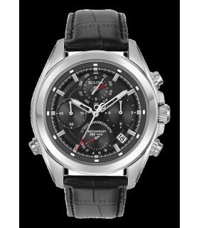 Reloj hombre Bulova Precisionist  correa cuero Men's 96B259 cuarzo crono Chronograph Leather Strap   Watch