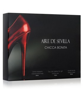 ESTUCHE AIRE DE SEVILLA CHICCA BONITA  150ml + GEL 150ml + BODY 150ml