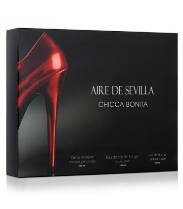 ESTUCHE AIRE DE SEVILLA CHICCA BONITA  150ml + GEL 150ml + BODY 150ml