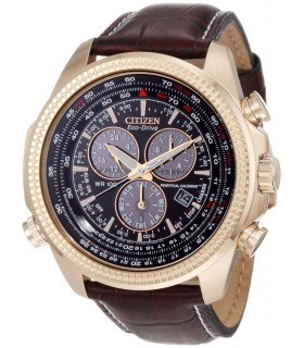Citizen ECODRIVE Perpetual Calendar Chronograph Brown Dial Mens Watch BL5403-03X