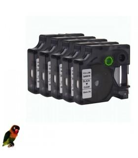 DYMO 45010 NEGRO / TRANSPARENTE CINTA ROTULADORA compatible