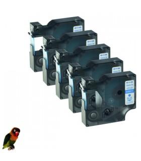 DYMO 45011 AZUL / TRANSPARENTE CINTA ROTULADORA compatible