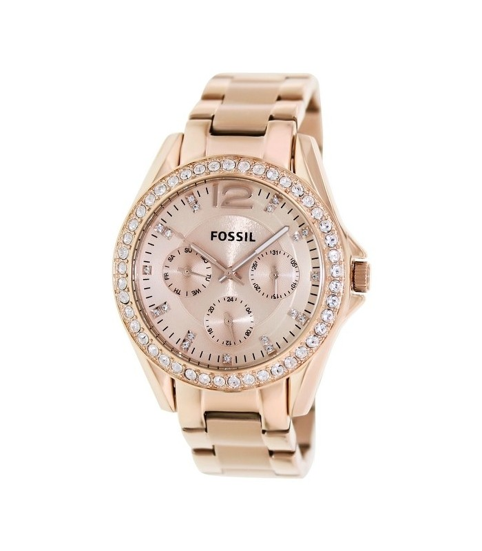 938190b7d995 reloj mujer Fossil Riley Multifunction Rose Gold-plated Ladies Watch ES2811  oro rosado