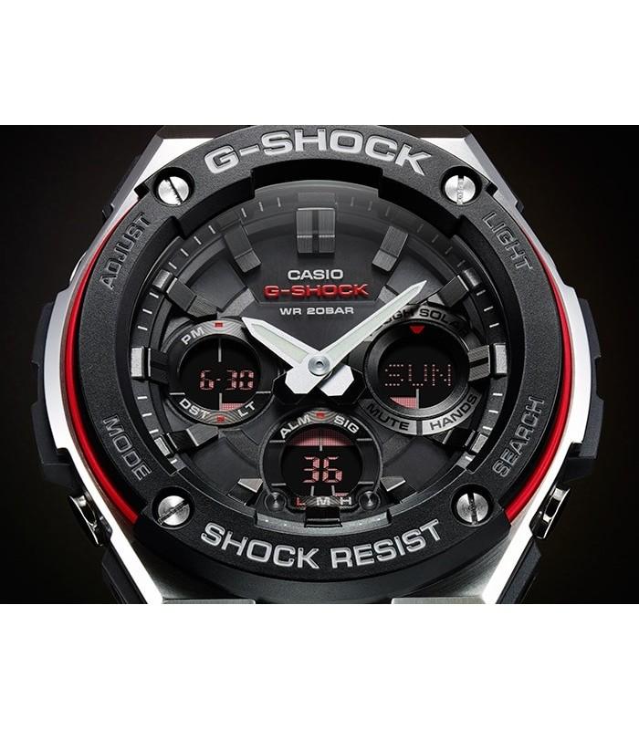 3dd96bce9351 reloj hombre Casio G-SHOCK G-Steel Men s GSTS100D-1A4 Tough Solar Super  Illuminator