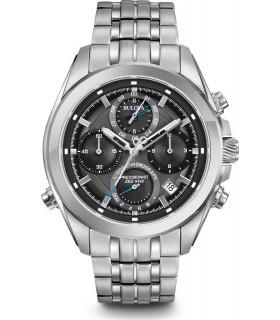 reloj hombre Bulova Precisionist Men's 96B260 Chronograph Quartz Gray Dial 44.5mm correa acero