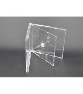 CD Jewel Case Doble Transparente Tray 100pcs