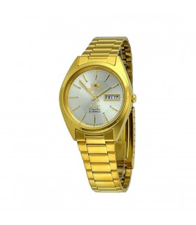 Reloj automático Orient 3 Star FAB00004C GOLD Dial Stainless Steel Band