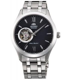 Reloj hombre automático Orient FAG03001B Skeleton correa acero dial negro