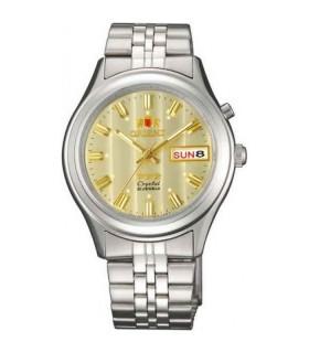 Reloj hombre automático Orient 3 Star FEM0301YC AMARILLO correa acero