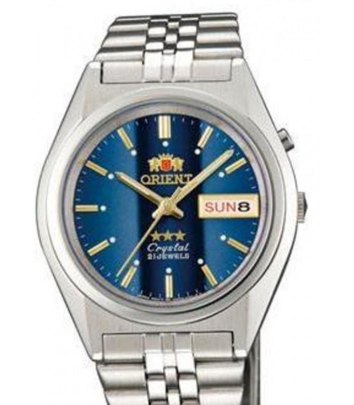 Reloj hombre automático Orient 3 Star FEM0501PL AZUL correa acero
