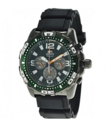 reloj hombre Orient FTW05003F Sports Chrono negro correa caucho