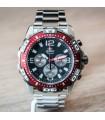 reloj hombre Orient Sports Chrono FTW05001B rojo negro acero inoxidable