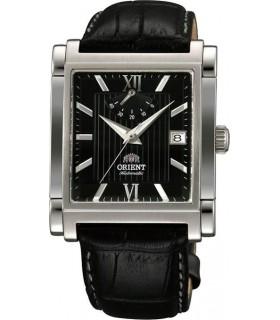 reloj hombre automático Orient FFDAH004B Reserva de Marcha negro - correa cuero  - rectangular