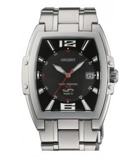 reloj hombre SOLAR Orient CVDAE003B acero inoxidable rectangular negro