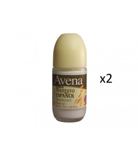 Pack 2 unidades AVENA Desodorante Roll-on 75ml -Instituto Español
