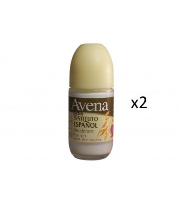 Pack 2 unidades AVENA Desodorante Roll-on 75ml -Instituto Español