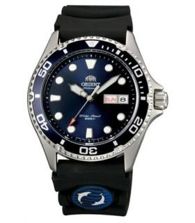 reloj hombre automático Orient Mako Ray II  FAA02008D dial azul correa goma