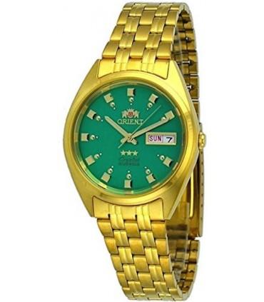 reloj hombre mujer automático Orient Tristar FAB00001N dorado verde