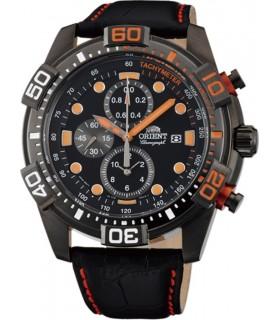 Reloj hombre deportivo Orient FTT16003B Chrono correa piel