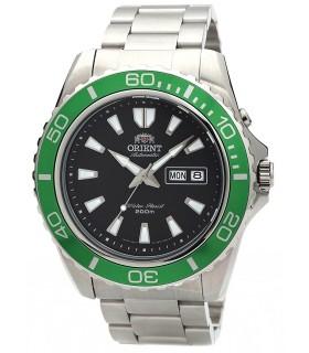 reloj hombre automático Orient Mako XL FEM75003B verde negro acero