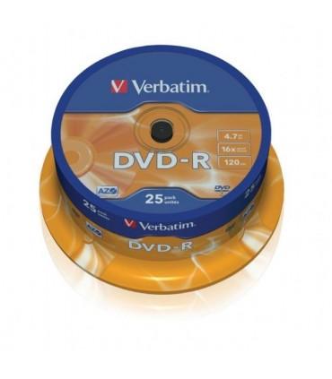 Verbatim dvd-r 16x tarrina 25