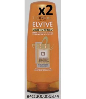 ELVIVE CREMA SUAVIZANTE 250ML LISO INTENSO PACK 2 UNIDADES