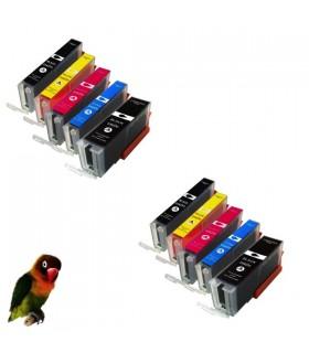 pack 5 tintas compatibles x CANON PIXMA TR7550 TR8550 TS6150 TS6151