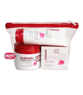 lote BABARIA NECESER + crema facial hidratante + peeling facial + crema corporal