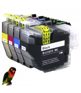 4 tintas para Brother LC3213 LC3211 DCP-J 770 MFC-J 890 MFC-J 497 DW MFC-J 491