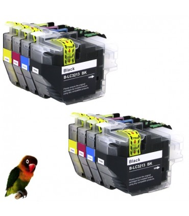 8 tintas para Brother LC3213 LC3211 DCP-J 770 MFC-J 890 MFC-J 497 DW MFC-J 491