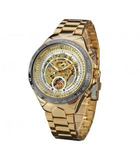 reloj hombre automático Winner dorado blanco mod.432