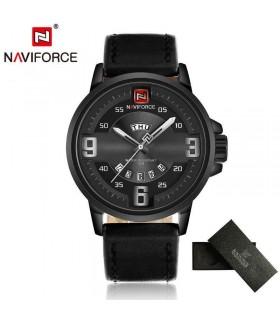 reloj hombre militar Naviforce 9086 negro cuero