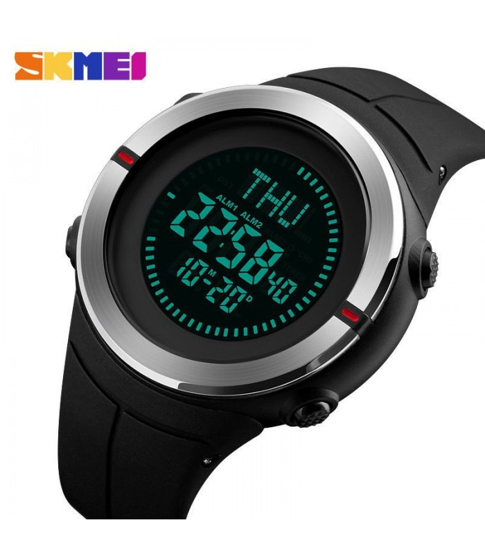 Reloj SKMEI digital negro caballero cronografo alarma
