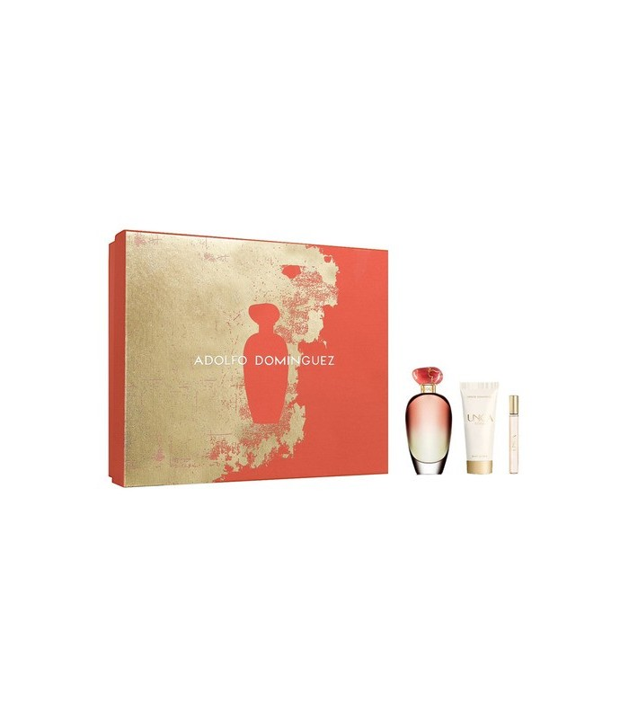 UNICA CORAL eau de toilette 100 ml + bodymilk 75 ml + 10 ml ADOLFO DOMINGUEZ