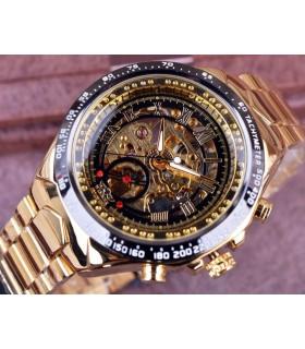 Reloj hombre automático hombre  Winner   dorado negro