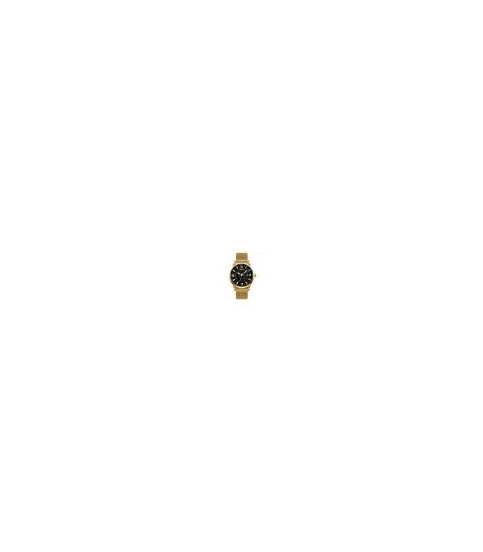 Reloj hombre acero malla Skmei 9166 negro dorado