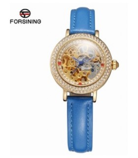 reloj mujer automatico Forsining correa azul